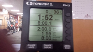 New PR on the Concept 2, Monday January 6, 2013